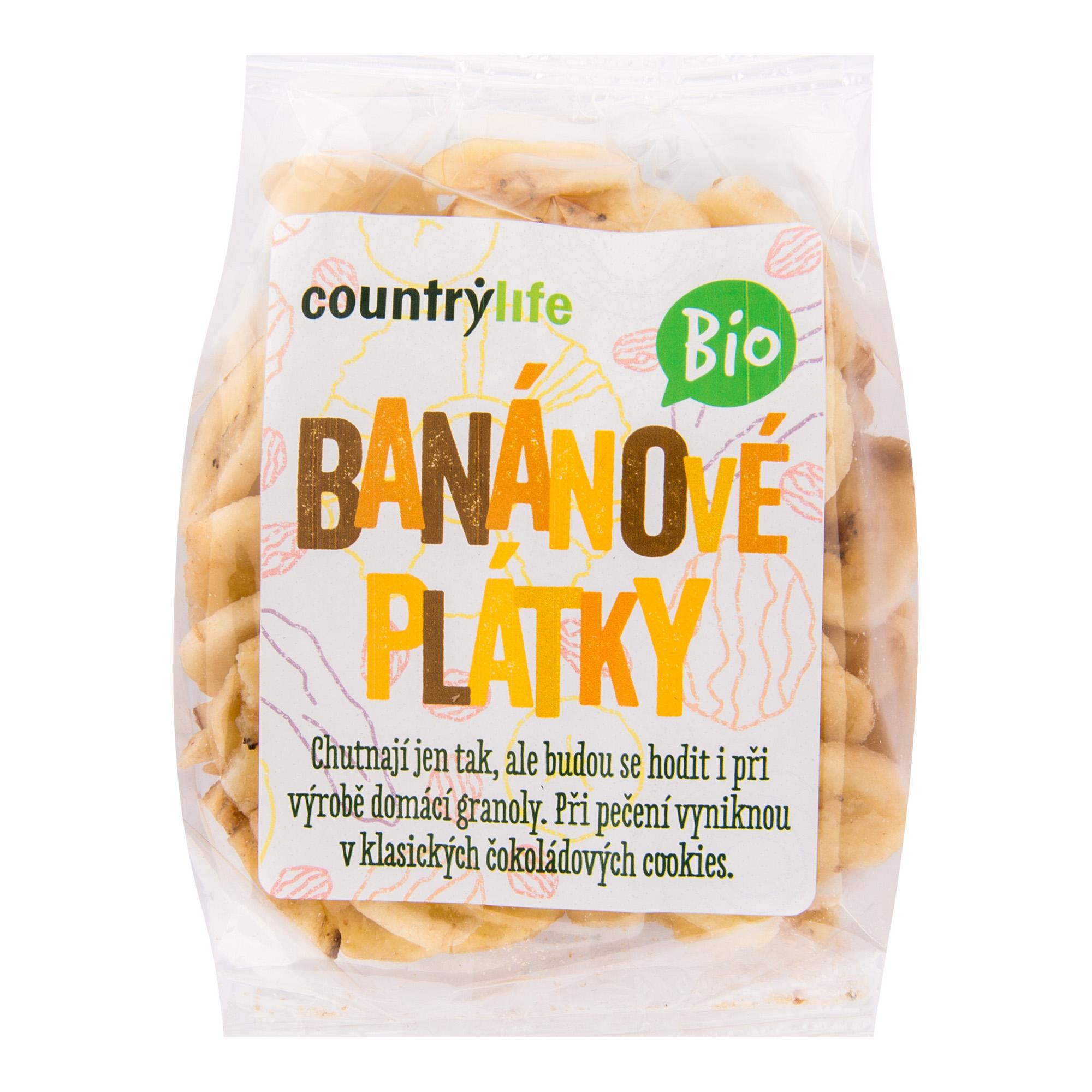 Banánové plátky 100g BIO   COUNTRYLIFE