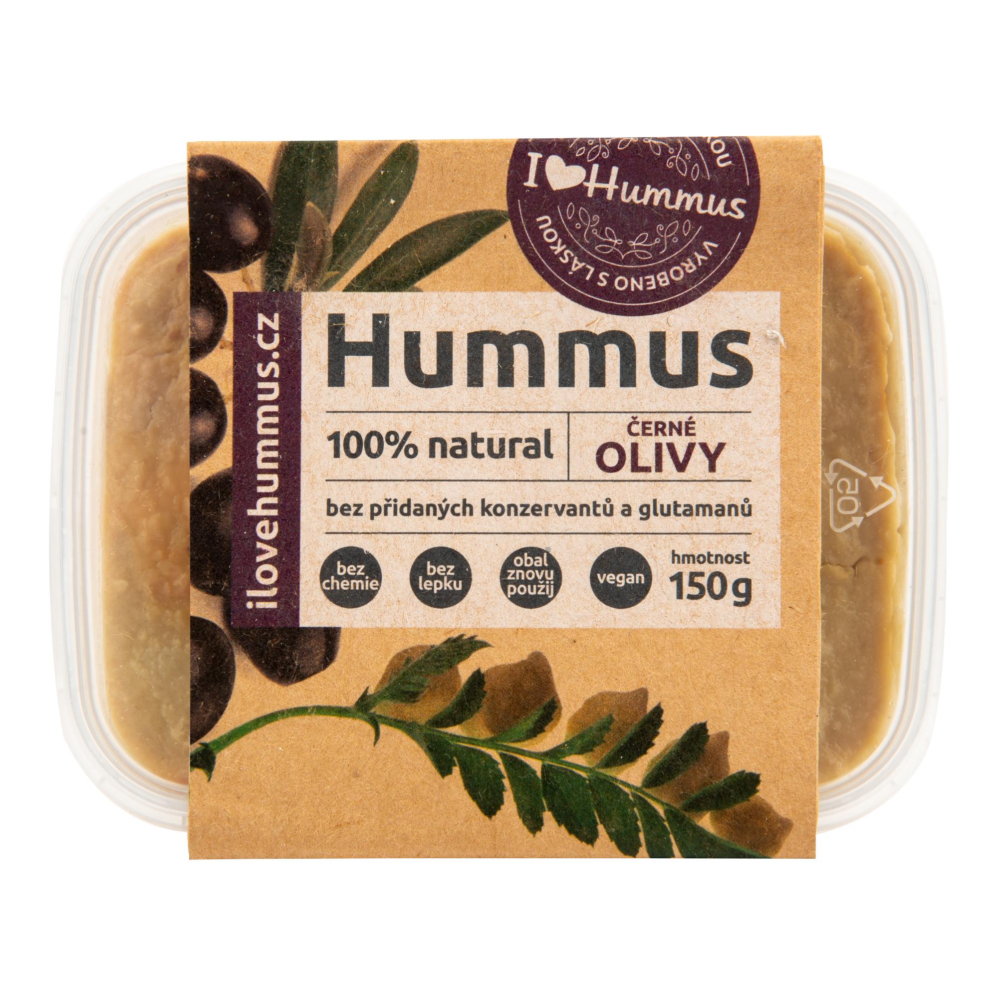 Hummus černé olivy 150g