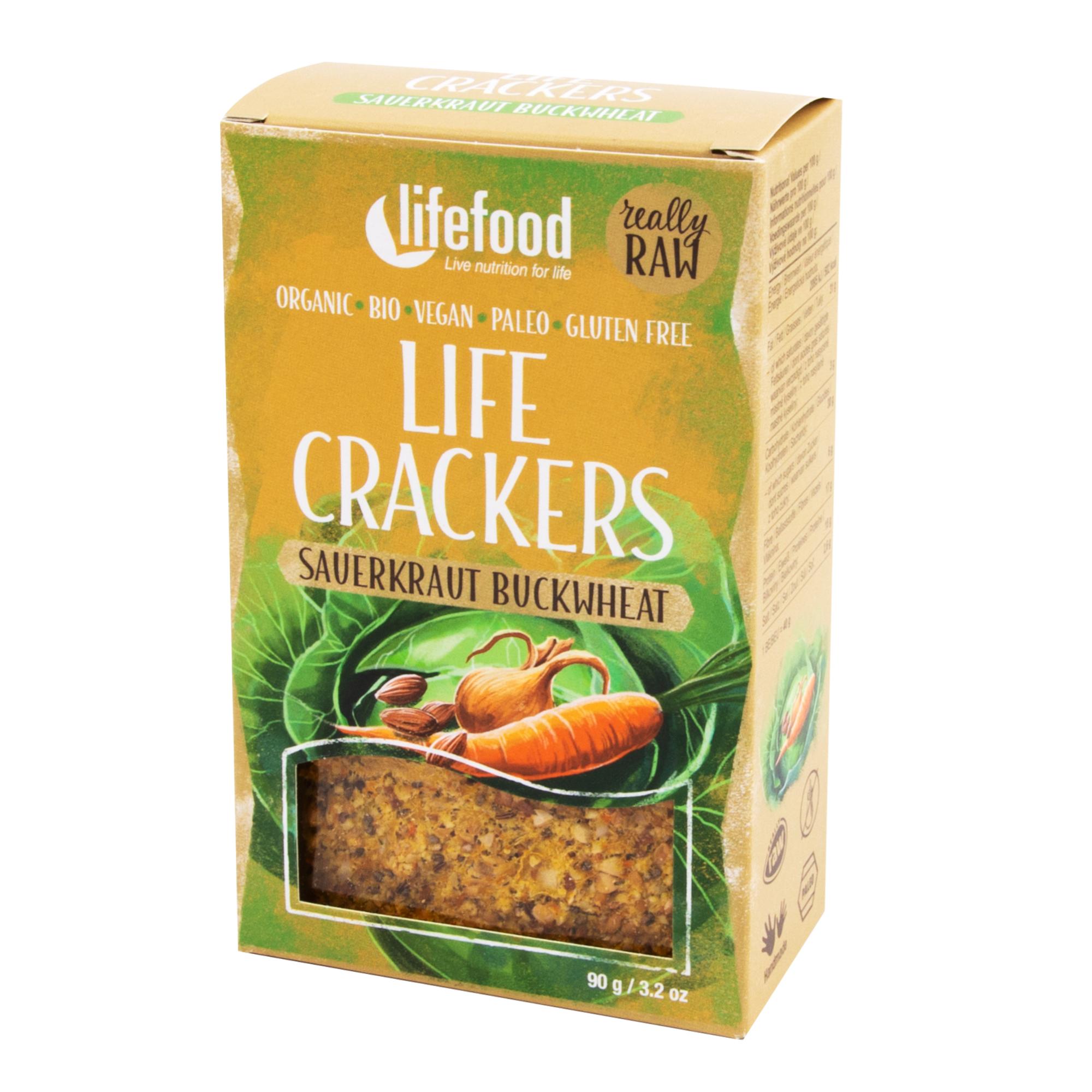 Life crackers Zelňáky 90g RAW, BIO