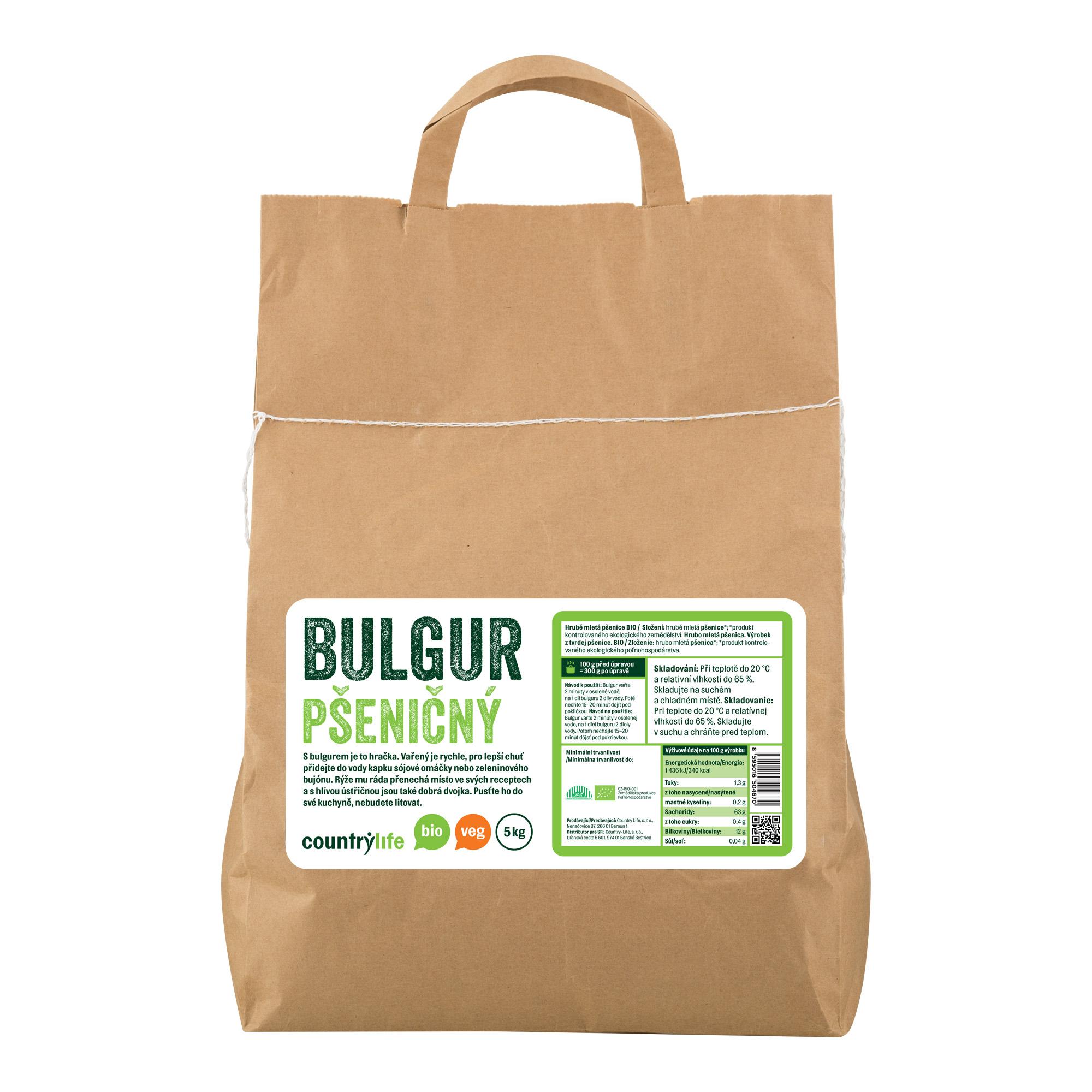 Bulgur pšeničný 5kg BIO   COUNTRYLIFE