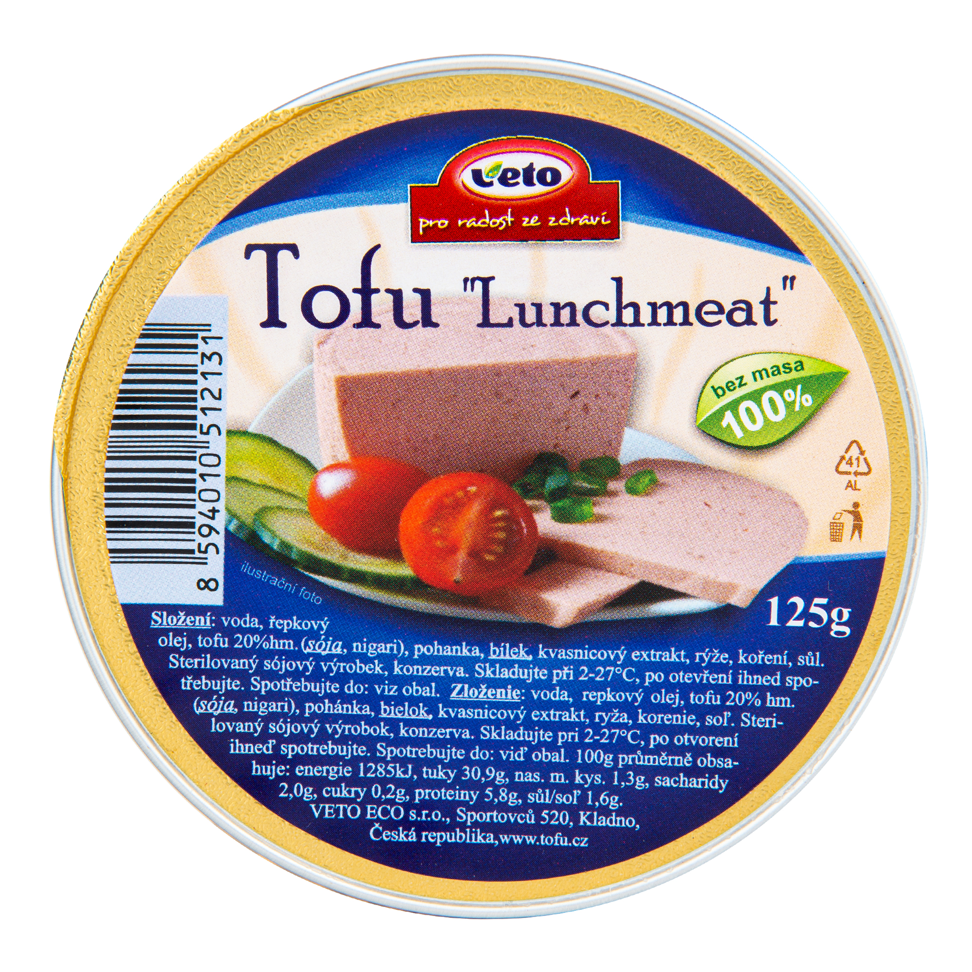 Tofu lunchmeat 125g