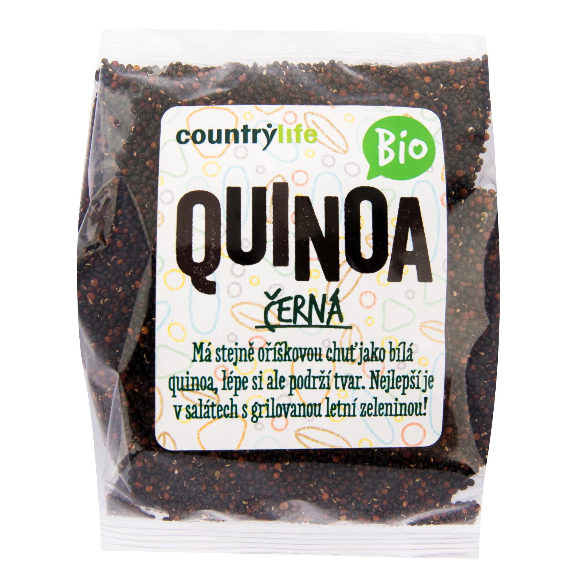 Quinoa černá 250g BIO   COUNTRYLIFE