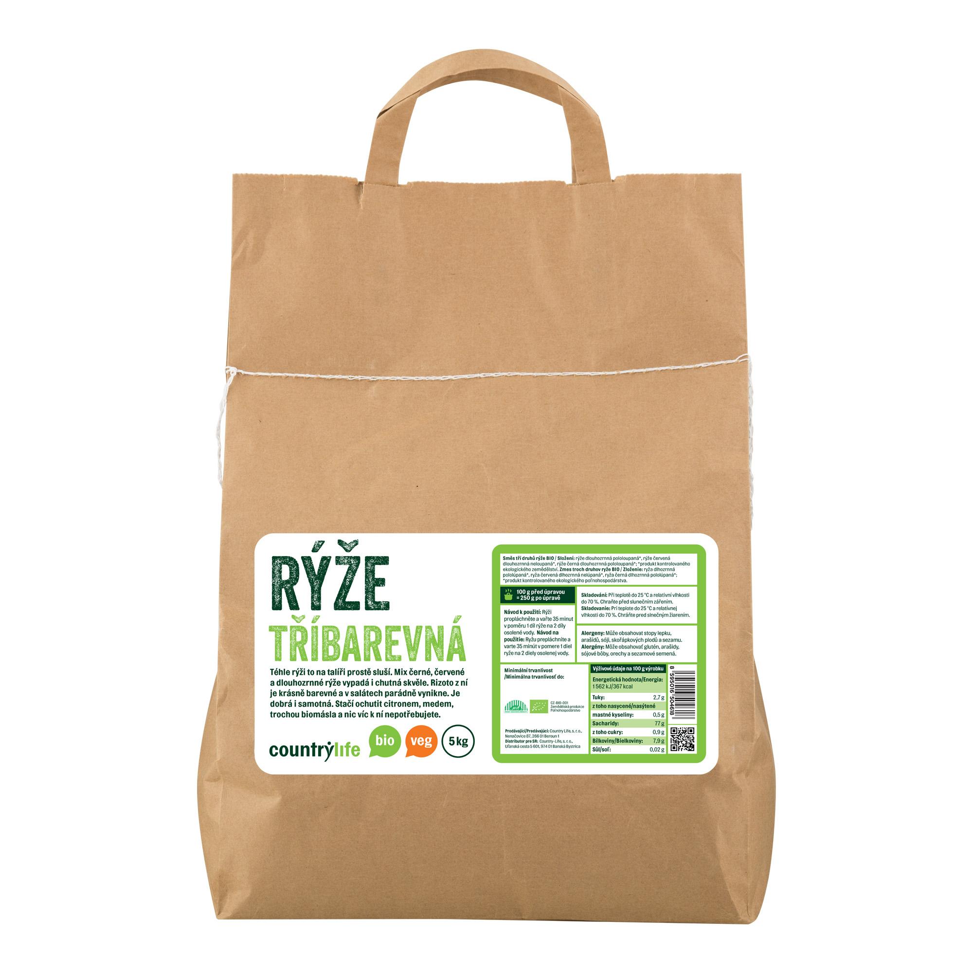 Rýže tříbarevná 5kg BIO   COUNTRYLIFE