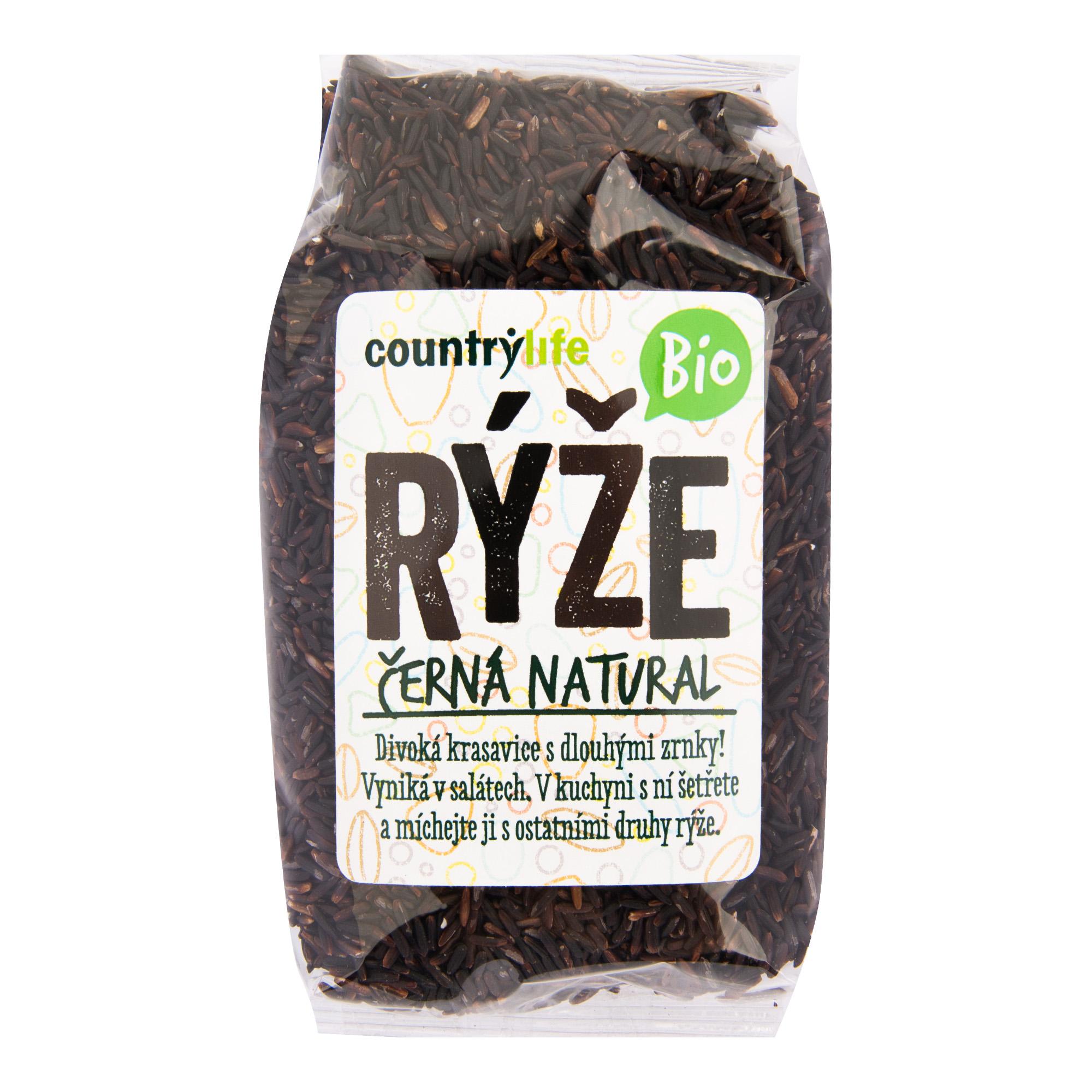 Rýže černá natural 500g BIO   COUNTRYLIFE
