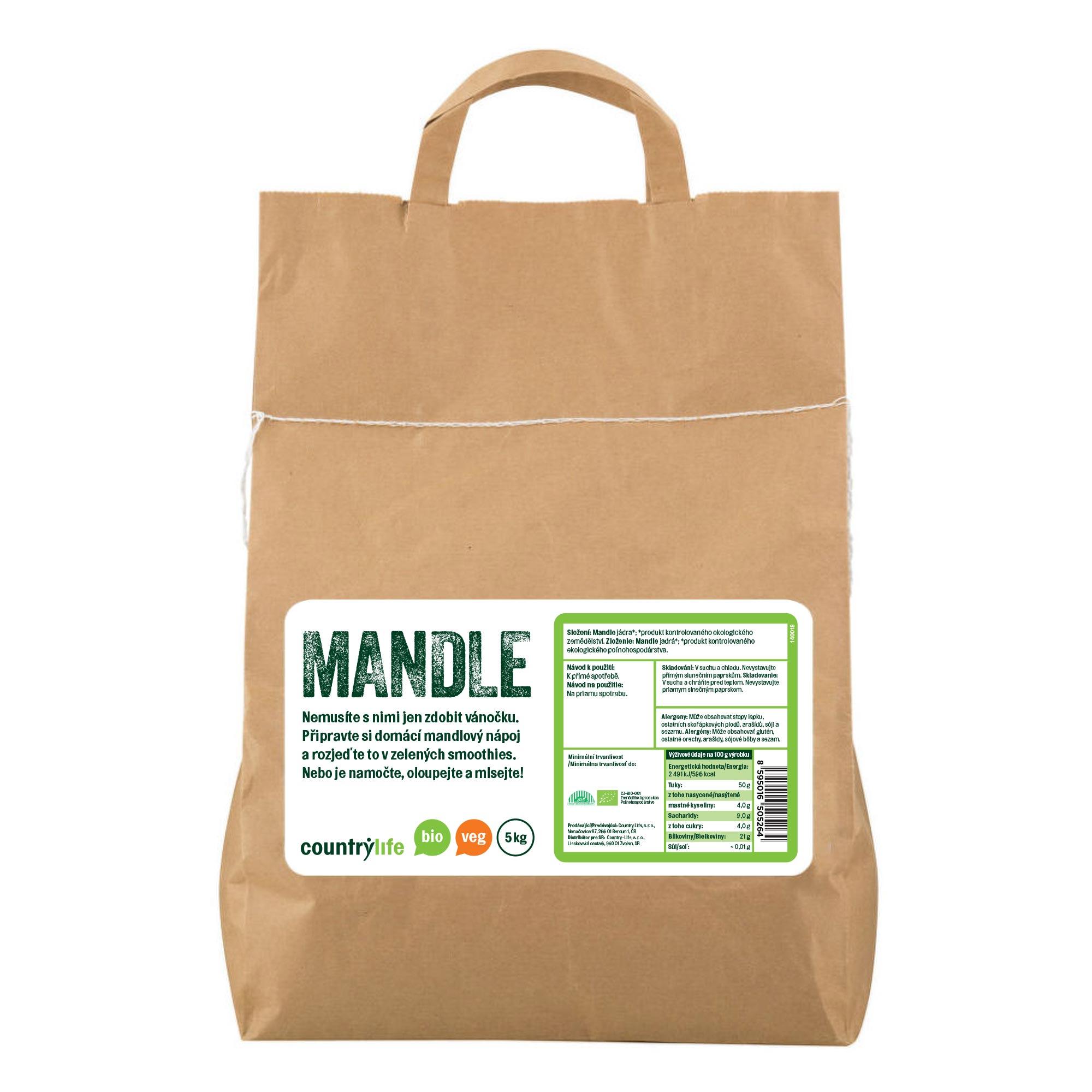 Mandle 5kg BIO   COUNTRYLIFE